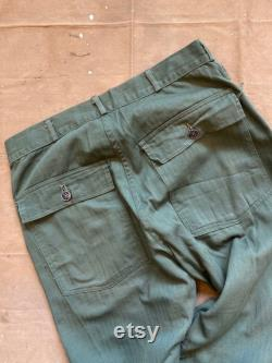 1940s HBT Trousers 13 Star Gusset WWII