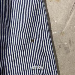 1940s Red Ball Overalls Hickory Stripes