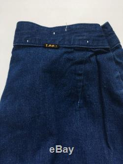 1970s LEE High Rise Distressed Pleat Line Vintage Bell Bottom Jeans Size 27