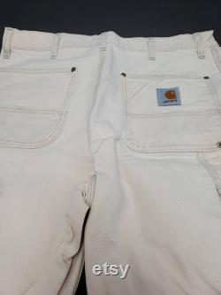 1990s Carhartt 36W 36L Double Knee Carpenter Pants with hammer loop