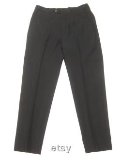 1990s Gucci by Tom Ford Mohair Slim Slacks Vintage Retro Made in Italy Wool Blend Suit Pants Trousers (48) 33 x 30