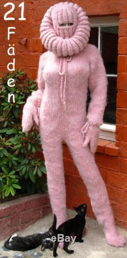 21 Threads Mohair Catsuit Overall GROBSTRICK , Pink Balaclava M L