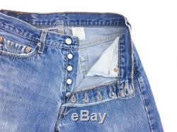 28W x 31L VTG Vintage 90s Levis 501 Button Fly 5-Pocket Blue Jeans Perfectly Worn In Straight Leg Faded Boyfriend 28 x 31