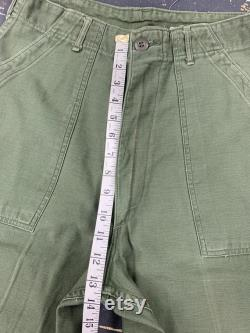 28x31 Zip Fly OG 107 Utility Trousers 60s Military Vintage Tagged 32x33 1968
