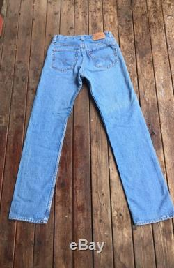 31 Levis 501 jeans USA light blue made in America 30 31 small medium S M 31x34 31 inch waist 34 inseam long tall faded perfect fade Levis 31