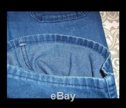 33 x 29 blue cotton denim genuine naval flared jeans 1970s Navdungarees Made in USA navy utility chore trousers pants1960s US Navy
