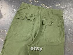 34x30 OG107 Utility Trousers 60s Military Vintage Tagged 36x33 1968 Baker Pants