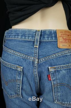 70s Levis 501xxx Button Fly Shrink to fit Slevedged Jeans 80s High Waist Jeans, 30 x 34 Distressed Levi Jeans Vintage USA 501 Levis