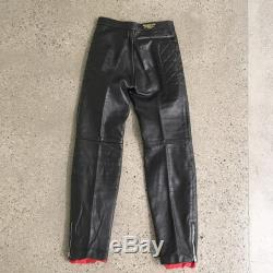 70s Vintage Leather padded biker pants