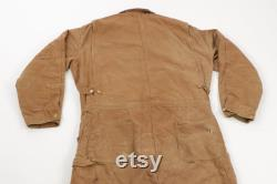 80s Carhartt Mens 48L Insulated Corduroy Collar Spell Out Coveralls Bibs, Vintage Carhartt Coveralls, Carhartt Insulated Coveralls,