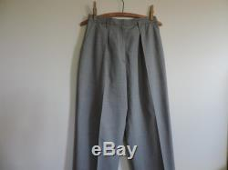 90's High Waisted Pleated Trousers Houndstooth Pattern Cuffed Slacks Knickerbockers size 8P