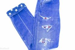 American Flag Shredded Vintage Levi Jeans Ready Boho Concert Festival Country