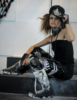 Black and White Mixed Media Patchwork Unisex Drop Crotch Pants