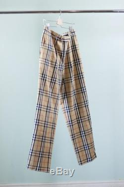 Burberry Golf pants authentic designer pant with pleated waist and crease