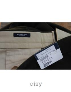 Burberry Vintage Trousers Tailored Oversize Cotton Green