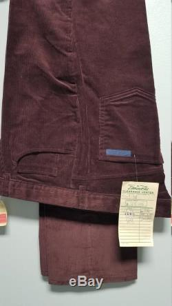 CALVIN KLEIN CORDUROY Men's Purple jeans. 1985. Never worn, with tags