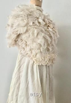 COMME des GAR ONS 1999 ruffled tulle runway sweater Made in Japan