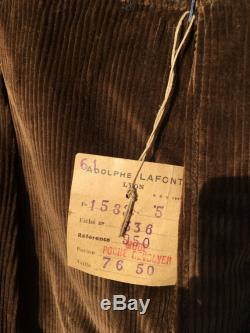 Deadstock Vintage 40s Corduroy French Workpant