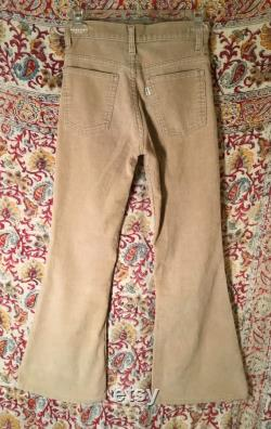 Fabulous 1970s LEVIS Huge Flares Bell Bottom Corduroy Pants, Unisex For Women Or Boys Or Girls, Smaller Size, Excellent Shape, Fit Great