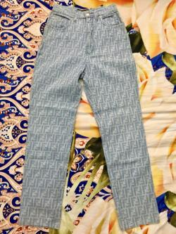 Fendi Roma Monogram Logo FF Jeans Pants Made in Italy Size 27