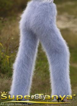Fluffy trousers in light gray by SuperTanya