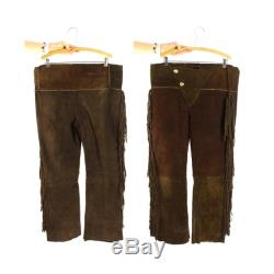 Fringed Suede Pants Vintage 70s One of a Kind Handmade Mountain Man Native American Style Trousers Size Large