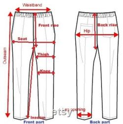 Gothic Men Black Chrome Trousers Punk Rock Studs Metal And Chain Trouser Pant