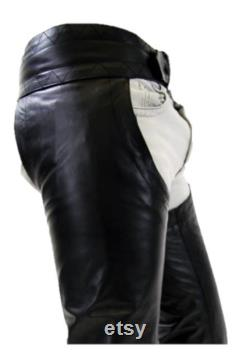 Hand Made Genuine Leather Chaps For Men HandCrafted Leather Chaps Bikers Costume