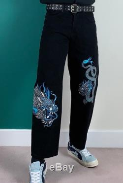 Hand painted Dragon pants Curriegoat