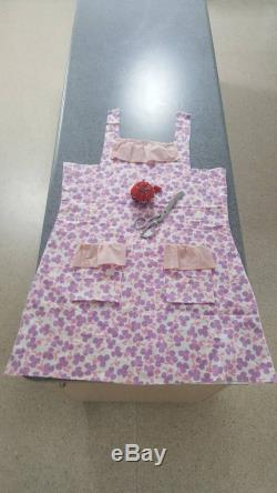 Handmade deadstock fabric 60s coverall dress with frill size 12 adult