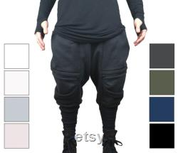 Handmade mens baggy Joggers with contasting pockets, ribbed calf supports and zip pockets, mens oversized camden town fashion, streetstyle