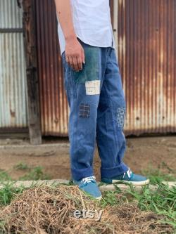 Japanese boro patch 70 80's French work pants