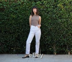 LEVI 501s 501 26x29 women's fitted white jeans straight leg high waist 17501