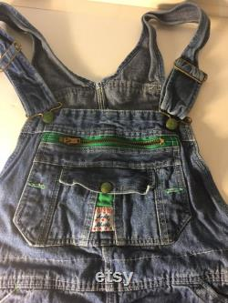 Lady Liberty Blue Vintage denim overalls. 1970s classic standbys to wear with your Fat Rolls W32 34 X 39.5 L