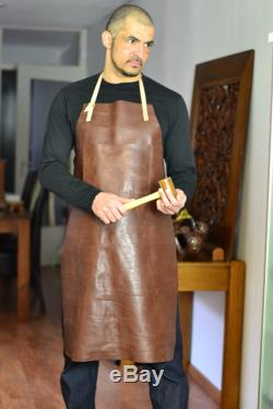 Leather apron, genuine leather apron for men and women