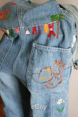 Lee Country Embroidered Denim Bibs 26x32