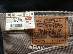Levi's 512 32 x34 sand corduroy pants Made in Japan 1995 deadstock