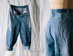 Levi's Red-line Selvedge Knickerbockers Handmade from 70s Cone Mills Denim 501 Jeans Sz 29