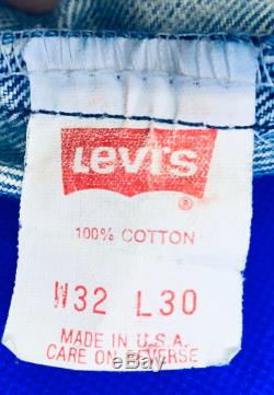 Levis Acid Washed Jeans Vintage 80's Original Method 32 x 30, Zippered 505 like Warhol used on Sticky Fingers HTF Long Discontinued Process