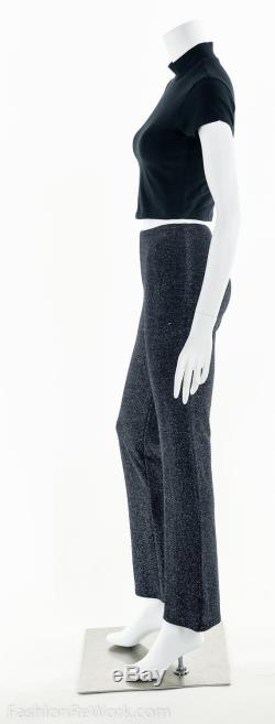 Lurex Bell Bottoms, Vintage Bell Bottoms, Metallic Bell Bottoms, Bell Bottoms, Sparkle Knit, 70's Bell Bottoms, Studio 54, Bianca Jagger