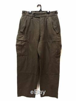 MEGA SALE Vintage 60s 70s Military Trousers Wool Pants Army Official War Pants