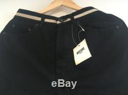 MOSCHINO Vintage Black Cotton Trousesrs 1990s New Old Stock