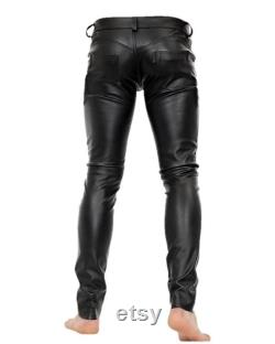 Men Genuine Sheep Leather Pant Hand Crafted Pants