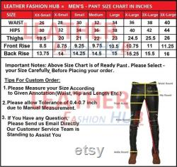 Men's and Boys 100 Genuine High Quality Soft Lambskin Leather Moter Biker Pant Straight Jeans style