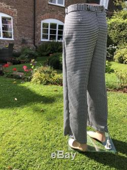 Men s high waisted wide leg trousers retro men s Pants double pleat trousers made to order handmade vintage men s wear