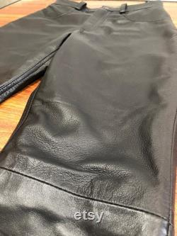 Mens Soft Leather Genuine Sheep Leather Party Pants Slim Fit Real Leather Pant Hand Made 4 Pockets
