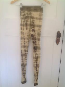 Merino wool leggings tights natural plant dyed crepe myrtle X SMALL