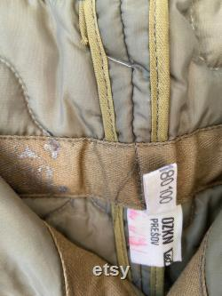 Military Quilted Liner Ozkn Presov Sizing in Photos