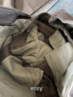 Mint 1952 Wool Field Pants- ARMEE French Military, Vintage Filson Style, Hunting, Camping, Large 35 waist 43 length