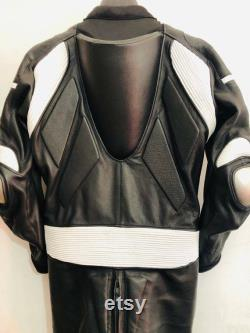 New Crotch Zippers White Black Leather Suit Crotch Zipper Black Motorbike Motorcycle Leather Racing Suit Crotch Zipper Black Leather Suit